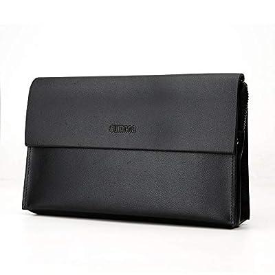 SIMU Leather Big Clutch Bags Wristlet Organizer Wallet Business Handbag