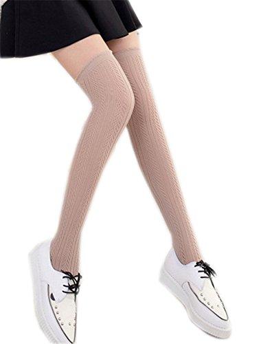 AnVei-Nao Womens Girls Thin Over Knee Leg Warmers Hallow Knit Sexy Sock Leggings ()