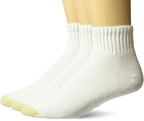 Gold Toe Men's Ultra Tec Performance Quarter Athletic Socks, 3-Pack, white, Shoe Size: 6-12.5