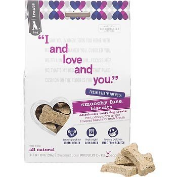 I and Love and You Smoochy Face Biscuits for Dogs Mint, Parsley and Ginger - 10 oz