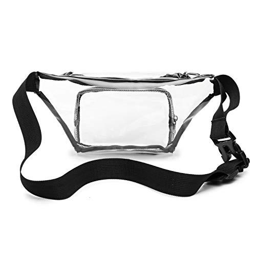 Black Clear Fanny Packs Waterproof Transparent Stadium Approved Waist Bag for Men Women
