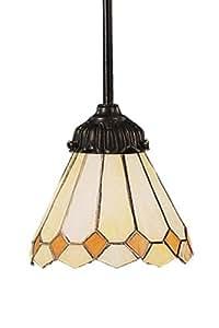 Elk 078-Tb-05 Amber Diamond Mix-N-Match 1-Light Pendant, 23-1/2-Inch H, Tiffany Bronze