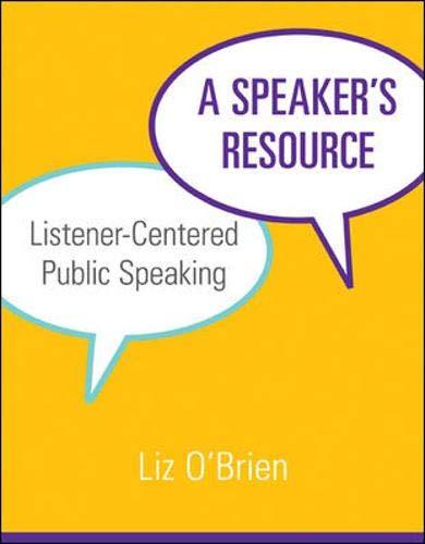 A Speaker's Resource: Listener-Centered Public Speaking