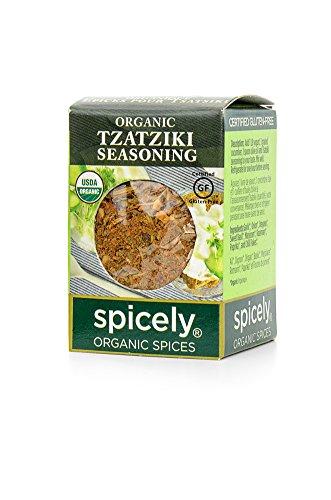 Spicely 100% Organic and Certified Gluten Free, Tsatsiki Seasoning