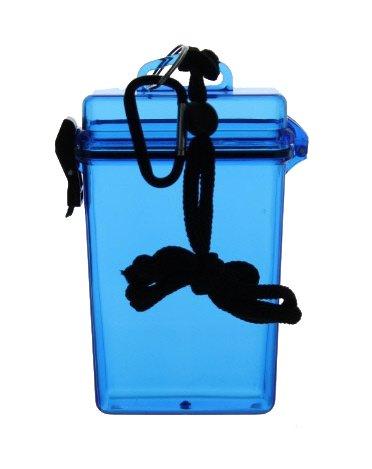 Price comparison product image Blue Waterproof Travel Adventure Box | Hardplastic | Translucent Color | Money / Credit & Cruise Ship Cards | ID | Keys | Cosmetics | Cigarettes | Carabiner Included (BLUE)