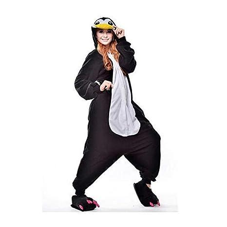 KRAZY TOYS Pijama Animal Entero Unisex para Adultos como Ropa de Dormir-Traje de Disfraz para Festival de Carnaval (Pinguino, L/XL)
