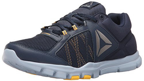 Reebok Herren Yourflex Train 9.0 MT Laufschuh College Navy / Giebel grau / Retro gelb / Zinn