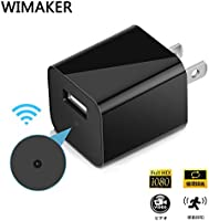 Wimaker HD 1080P Mini Spy Hidden Camera with Motion Detection WiFi Remote View USB Charging Phones Alarm Message Recorde Video Home Security Surveillance Nanny Cameras