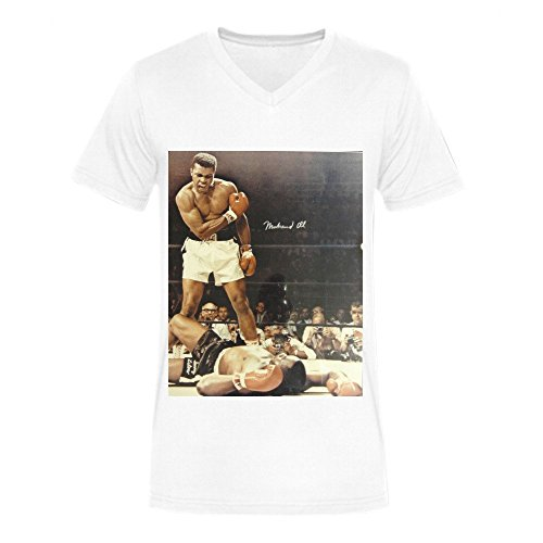 Muhammad Ali Showing The World T-shirt For Men V Neck White