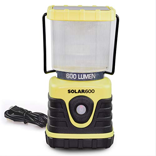 - Blazin' Solar Rechargeable Lantern | 600 Lumen Solar Emergency Lantern | Battery Power Bank Phone Charger | Storm, Power Outage Lanterns | Charge Via USB or Sun