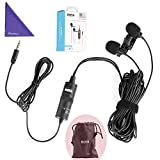 BOYA BY-M1DM Dual Lavalier Universal Microphone a Single 1/8 Stereo Connector Smartphones DSLR Camears Camcorders