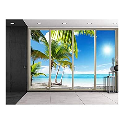 Palm Trees on The Side of The Beach Wall Decor, Premium Product, Alluring Style