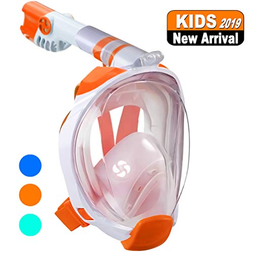- WSTOO Full Face Snorkel Mask-Advanced Safety Breathing System Allows You to Breathe More Fresh Air While Snorkeling,180 Panoramic Anti-Fog Anti-Leak Foldable Snorkel Mask for Adult and Kids