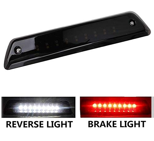 (LED 3rd Brake Light fit for Ford F150 2009 2010 2011 2012 2013 2014 Reverse Lamp High Mount Tail Light Smoke Lens Waterproof)