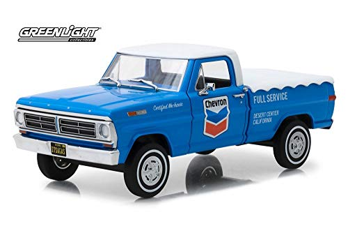 1967 Ford F-100, Chevron Oil - Greenlight 85013 - 1/24 Scale Diecast Model Toy Car ()
