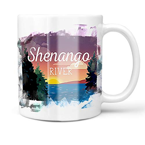 - Neonblond 11oz Coffee Mug Lake retro design Shenango River Lake with your Custom Name