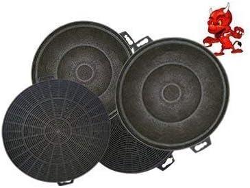 Mega set de 4 filtros de carbón activo filtro Filtro de carbón para campana Campana Balay 3bd771bp02: Amazon.es: Iluminación