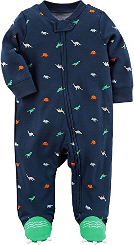 Carter's Baby Boys' Zip up Dinosaur Sleep and Play 9 Months - Pajamas Baby Carters