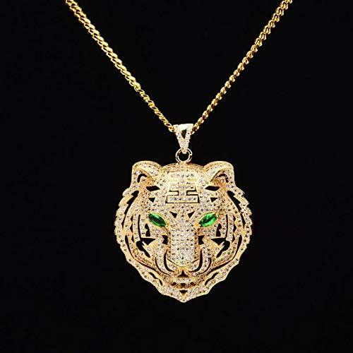 Best Quality - Pendant Necklaces - Men Hiphop iced Out Bling Tiger Pendant Necklaces CZ AAA Zircon 100% Copper Fashion Animal Shape Necklace Men Hip hop Jewelry - by SeedWorld - 1 PCs | Amazon.com