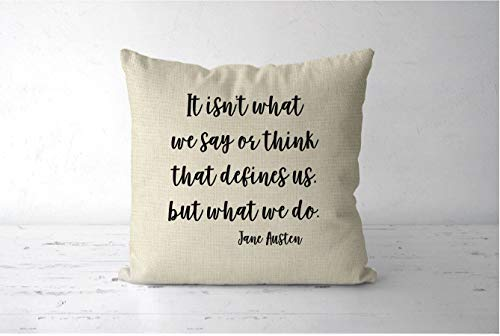 Dozili Jane Austen Quote Pillow Sense and Sensibility Pillow Gift Jane Austen Gift Literary Quote Print Book Lover Pillow Book Lover Gift