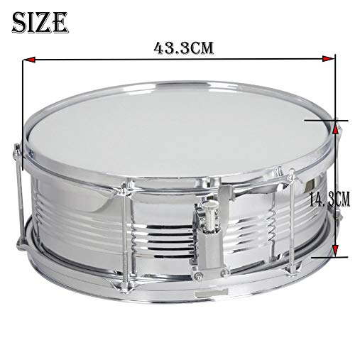 MG.QING Professional Snare Drum, Student Band, Military Drum Head, with Drumsticks, Tuning Keys, Strap,Blue by MG.QING (Image #4)