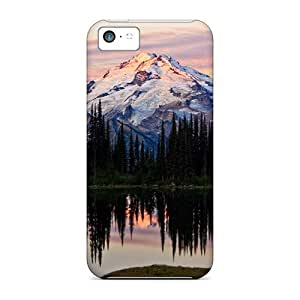 Iphone 5c Hard Back With Bumper Cases Covers Mountain Lake Lscape
