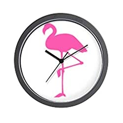 CafePress - Neon Pink Flamingo Wall Clock - Unique Decorative 10 Wall Clock