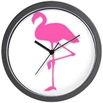 Flamingo Wall Clock Pink Flamingos Kitchen