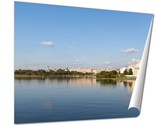 Ashley Giclee Fine Art Print, The Thomas Jefferson Memorial And The Monument, 16x20, - Mall City Memorial Where Is