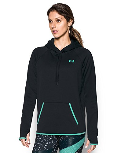 Under Armour Women's Storm Armour Fleece Icon Hoodie, Black/Crystal, Small