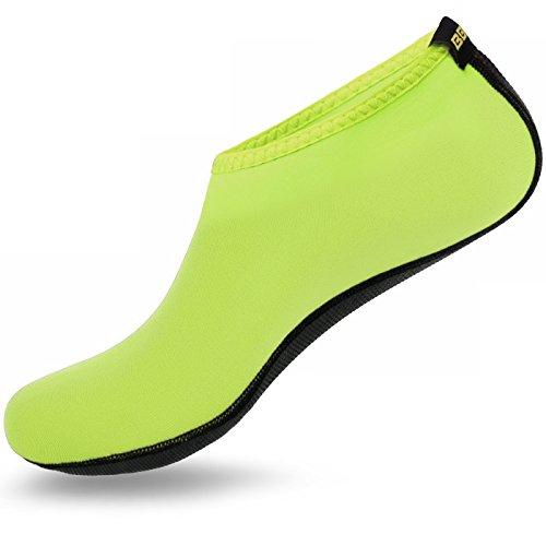 Justonestyle Scarpe Acqua Pelle A Piedi Nudi Calze Aqua Per Beach Swim Surf Yoga Esercizio Neon Verde