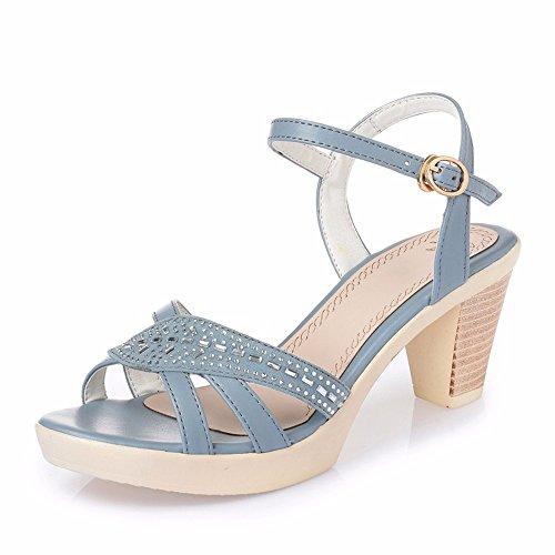 Fibbia Blue 5 Una con UK5 Ash Tacco Parola 5 in Impermeabile CN38 55 Scarpe Alto Sandali Lady No EU38 Estate con US7 Shoes z1aq4P