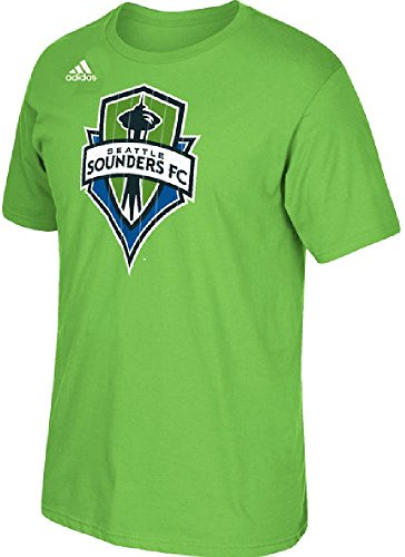 Seattle Sounders Green Adidas Climalite Ultimate Logo Set T Shirt (Large) - Sounders Gear