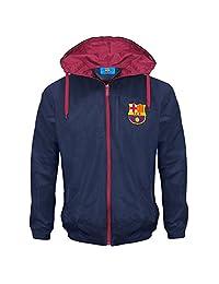 FC Barcelona Official Football Gift Mens Shower Jacket Windbreaker Large