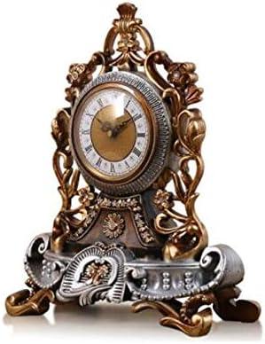 KEHUITONG 時計、ヨーロッパのレトロなファッション時計ベッドサイドクリエイティブ時計の装飾品サイレントクロックアンティークカウンタークロック (Color : B)