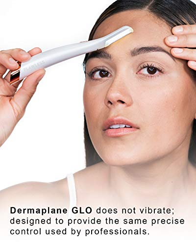 Finishing Touch Flawless Dermaplane Glo Lighted Facial Exfoliator – Non-Vibrating and Includes 6 Replacement Heads…