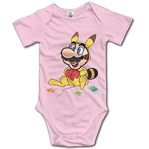 Stick Figure Costume Baby (ASHIN Super Mario Bros Pokemon Pikachu For 6-24 Months Boys&Girls Short Sleeve Romper Bodysuit 18 Months Pink)