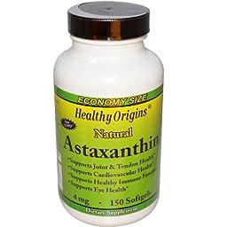 HEALTHY ORIGINS ASTAXATHIN,4 MG, 150 SGEL