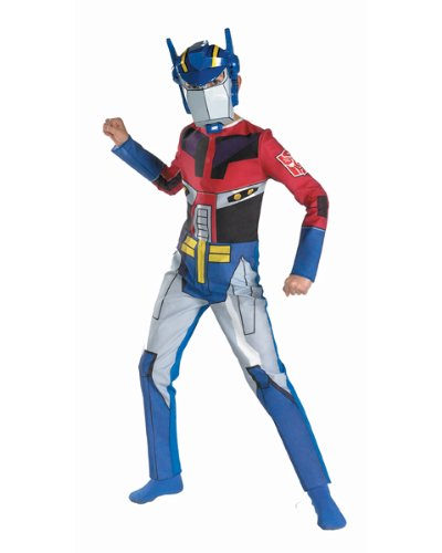 Transformers Animated Optimus Prime Child Costumes (Transformers Animated Optimus Prime Quality Halloween Costume - Size 7-8)