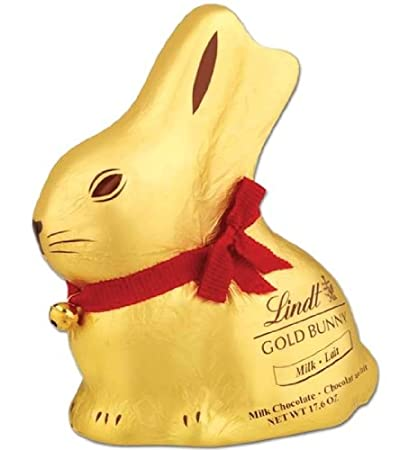 Lindt Belgian Milk Chocolate Gold Easter Bunny With Gold Bell 500g 176oz