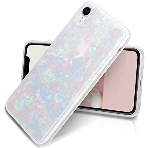 (ivencase iPhone XR Case, iPhone XR Cover for Girls,Cute Luxury Sparkle Bling Crystal Clear Slim Flexible Bumper Shockproof TPU Soft Rubber Silicone Back Shell iPhone Case for iPhone XR 6.1