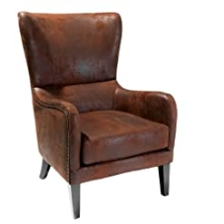 Farmhouse Accent Chairs Christopher Knight Home Lorenzo Fabric Studded Club Chair, Brown farmhouse accent chairs