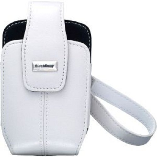 Blackberry ACC-11933-004 Leather Tote with Removable Carrying Strap for 8700c 8700g 8703e - Original OEM - Carrying Case - Non-Retail Packaging - Pearl White