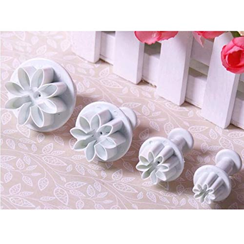 OUNONA 68-in-1 DIY Surgarcraft Fondant Cake Smoother Plungers Cutters Embossers Molds Decorating Tools
