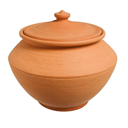 Handmade 30oz Ceramic Cooking Pot Red Clay Kitchen Artisan Cookware