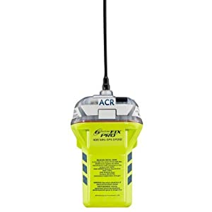 ACR GlobalFix Pro 406 EPIRB Category II Rescue Beacon with Manual Release Bracket and Built in GPS