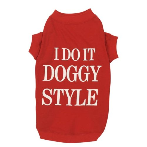 Zack and Zoey Doggy Style Dog T-Shirt, Medium, Red, My Pet Supplies