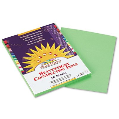 Light Paper 9x12 Construction - SunWorks Construction Paper, 58 lbs, 9 x 12, Light Green, 50 Sheets/Pack