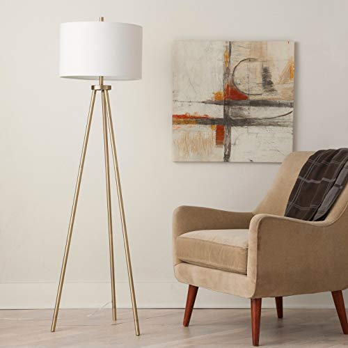 Floor Lamp Brass Lamp Reading Light Modern Farmhouse Industrial Home Decor Style