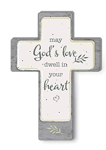 Precious Moments May God's Love Dwell in Your Heart Cross 191493, One Size, ()
